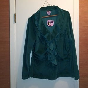 Dark green x-large warm blouse